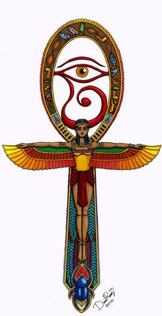 A detailed look into the Egyptian ankh meaning life and immortality. The most common one among the ancient Egyptian symbols, the ankh symbol examined. Egyptian Mythology, Egyptian Symbols, Ancient Egyptian Art, Ancient Symbols, Mayan Symbols, Viking Symbols, Viking Runes, Egyptian Cross, Egyptian Goddess Tattoo