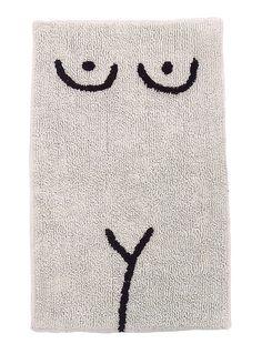 "100% cotton  black/brown design on cream mat  20"" x 30"" non slip latex backing  ok sry i love this"