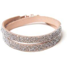 She Rise Dorado Wrap Bracelet ($49) ❤ liked on Polyvore featuring jewelry, bracelets, nude, leather bangles, swarovski crystal jewelry, leather jewelry, wrap bracelet and nude jewelry