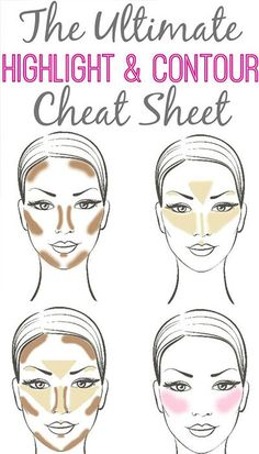 Contouring Highlighting Hacks, Tips, Tricks, Pictures; How To | Teen.com #unique,  #extreme makeup -  #eye shadow  lips