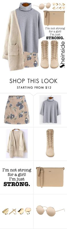 """""""SheIn 8"""" by scarlett-morwenna ❤ liked on Polyvore featuring moda, Timberland, Parfois, New Look, Linda Farrow, modern y vintage"""
