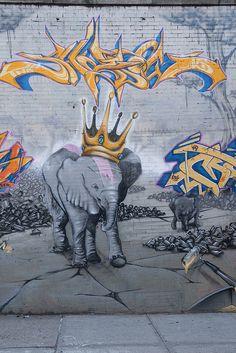 King of Elephants by Shadow - NY graffiti