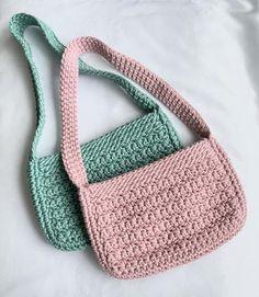 Crochet Kawaii, Beau Crochet, Diy Crochet Bag, Crochet Bag Tutorials, Diy Crochet Projects, Crochet Crafts, Crochet Clothes, Crochet Handbags, Crochet Purses
