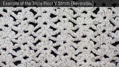 Triple Picot V Stitch  http://newstitchaday.com/how-to-crochet-the-triple-picot-v-stitch/?utm_source=New+Stitch+A+Day_campaign=daad82f126-RSS_EMAIL_CAMPAIGN_medium=email_term=0_5fdf4684f8-daad82f126-303732297