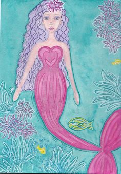 How to draw a Mermaid art workshop by by Cathleendeontiveros