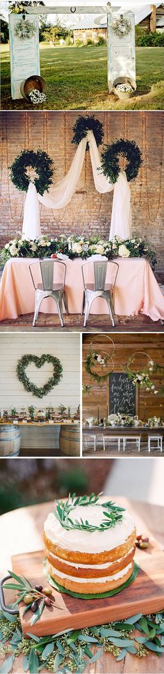 Ideas originales para decorar la boda con coronas de flores