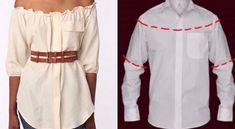 Si se encuentran con alguna camisa de hombre inutilizada, no la tiren absolutamente porque esta la posibilidad de transformarlas en deliciosos vestidos de mujer. Existen diferentes proyectos para seguir…