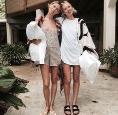 Candice Swanepoel & Behati Prinsloo