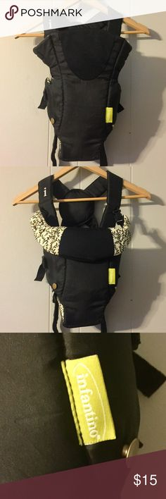 •Infantino Baby Carrier• Practically new infantino baby carrier. Only used twice! Black and cream pattern is gender neutral. Can be used to carry baby facing front or back. Feel free to ask questions or make an offer and as always, Thank YOU for shopping my posh closet! XoXo -Tish- infantino Other