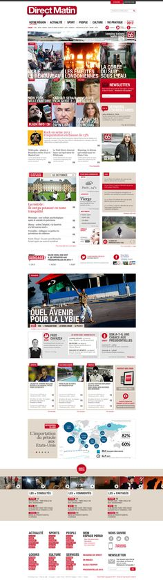 #enterprise #webdesign DIRECT MATIN by Thomas Ciszewski, via Behance