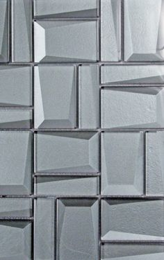 The beautiful faces of Clover Arabesque Grigio mosaic glass tile