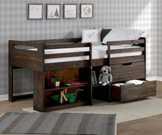 Buy our Rook Rustic Oak Low Loft Bed by Donco Trading kids bedroom furniture ; Solid Wood low loft bed for children. Buy our Rook Rustic Oak Low Loft Bed by Donco Trading kids bedroom furniture ; Solid Wood low loft bed for children. Bedroom Loft, Bedroom Wall, Bedroom Decor, Bedroom Ideas, Bed Room, Master Bedroom, Oak Bedroom, Master Suite, Desk Goals