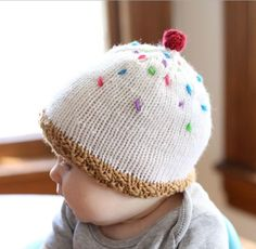 Ice Cream Baby Hat | This baby hat knitting pattern is hilarious!