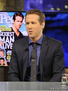 Ryan Reynolds Appears On the Spanish Tv show 'El Hormiguero' in Madrid, Spain.