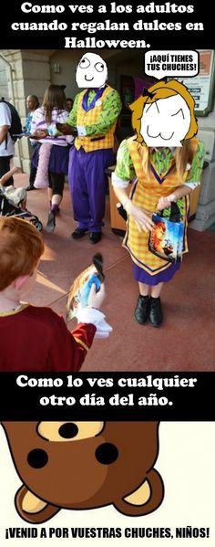 La paradoja de Halloween y sus chuches        Gracias a http://www.cuantocabron.com/   Si quieres leer la noticia completa visita: http://www.estoy-aburrido.com/la-paradoja-de-halloween-y-sus-chuches/
