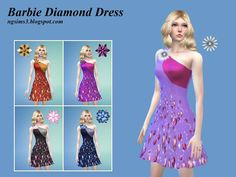 Barbie Diamond Dress at NG Sims3