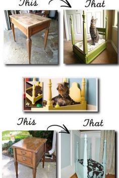 DIY dog bed, this is too cool!!!! :D