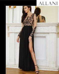 Sukienka SOFIA ze sklepu Lavika.pl . Piękna i elegancka długa suknia, w górze ekskluzywny czarny haft  na cielistej siatce. Sukienka z rozcięciem na lewą nogę. Piękna i elegancka długa suknia z górą z przezroczystej koronki.  #Sukienka koronkowa#Sukienka na studniówkę#sukienka na wesele#sukienka wieczorowa# sukienka maxI#suknia długa#suknia dla druhny Bridesmaid Dresses, Prom Dresses, Formal Dresses, Wedding Dresses, Poses, Style, Fashion, Bridesmade Dresses, Dresses For Formal