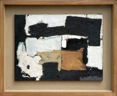 Black and White Composition by Gillian Ayres