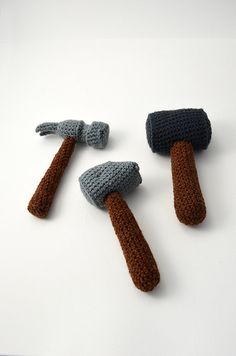 Hammer Crochet Pattern Set of 3 Hammers от VliegendeHollander