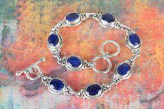 Bracelets – Blue Sapphire Bracelet, 925 Sterling Silver – a unique product by…