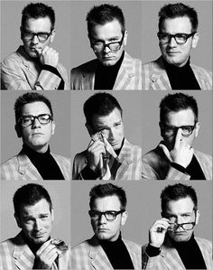 Ewan McGregor - I'm a little scared at how much he looks like Charles Nelson Reilly in the top row middle picture.  Anyone else?
