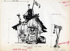 Paperwalker: Bruce Bushman: Technical Sketches for Disney's Mickey Mouse Club