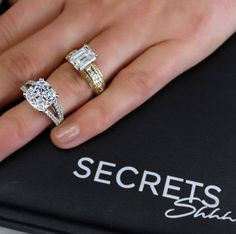 The World's Most Perfect Diamond Simulant  Share your @secretsshhh moment with us #secretsshhh to be featured. #bling #jewelry #rings #love
