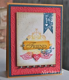 LOVE AM's version of the affection collection card!  Stampin' Up