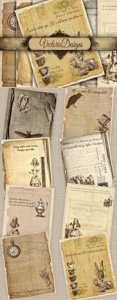 Printable Alice in Wonderland papers