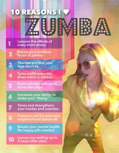 Here is ten reasons u should try Zumba. I Zumba bc it clears my mind, I get to forget all my stress for an hour. Fitness Tips, Fitness Motivation, Health Fitness, Zumba Fitness, Fitness Classes, Dance Fitness, Group Fitness, Zumba Funny, Zumba Meme