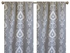 Pair of rod curtain 50 or 25' wide panels ikat by MoraineHill