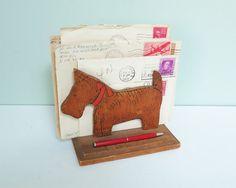 Scottie Dog Desk Accessory Mail or Napkin Holder by Tparty on Etsy #vintageoffice