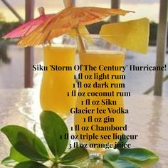 What is the most delicious Vodka Cocktail for a summer weekend evening?  The Siku 'Storm Of The Season' Hurricane!