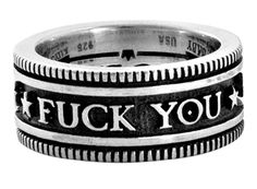 """""""Fuck You"""" version of the King Baby Studios ring"""