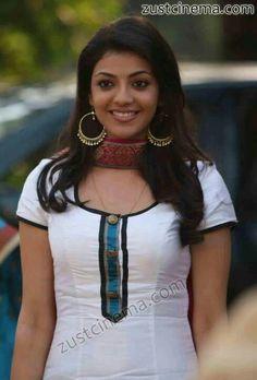 Beautiful Kajal Agarwal in white dress