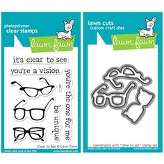 Lawn Fawn SET LFSETCTS CLEAR TO SEE Clear Stamps And Dies