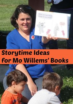 Lots of storytime ideas for Mo Willems' books- There Is A Bird On My Head! and The Pigeon Needs a Bath! Preschool Literacy, Preschool Books, Early Literacy, Kindergarten, Preschool Crafts, Library Lesson Plans, Library Lessons, Library Ideas, Library Themes