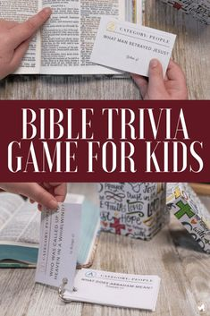 Bible Trivia for Kids Game - The Fervent Mama