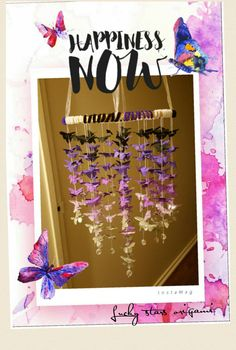Butterflies origami hanging mobile by cindyaries on Etsy