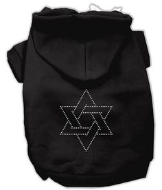 Now available on our store: Star of David Dog... , Check it out here : http://www.allforourpets.com/products/star-of-david-dog-hoodie-black-small