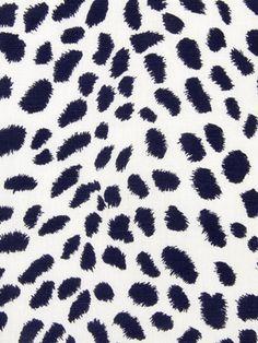Robert Allen Fabric - Leopard Path - Navy Blazer - Our Price: $49.99 Per Yard  #interiordesign #dots #animalprint #leopard