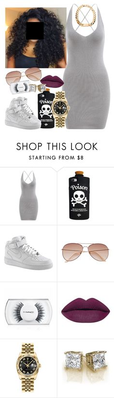 """""""Ybor-Cecelia"""" by newtrillvibes ❤ liked on Polyvore featuring Valfré, NIKE, H&M, MAC Cosmetics and Rolex"""