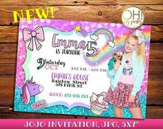 JOJO SIWA birthday invitation, jojo siwa party, jojo siwa birthday, jojo siwa invitation, jojo siwa birthday, jojo siwa, jojo siwa bow, jojo