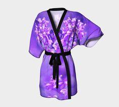 V-DAY SALE! 20% OFF Purple Orchid Kimono (only $52!) - Elegant Orchids, Japanese Silk or Chiffon Kimono, Royal, Floral Regal #Luxury Women's Clothing, Asian, Orchid http://etsy.me/2DWNj68 #clothing #kimono