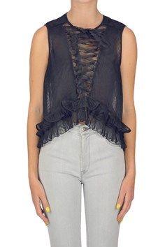 Isabel Marant - Pleated silk top | Reebonz