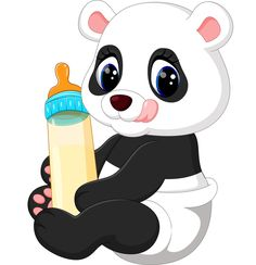Picture of cute baby panda cartoon stock photo, images and stock photography. Panda Bebe, Cute Panda, Panda Images, Cartoon Images, Cartoon Panda, Cute Cartoon, Baby Zoo Animals, Cute Animals, Wild Animals