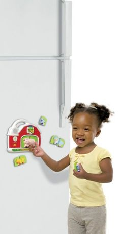 LeapFrog Fridge Magnet sets - This was my go to gift for 1 year olds. It looks like they don't sell this one right now but there are other Fischer Price Fridge Magnet sets you can search for. It is great for the one year old that gets to start wandering the kitchen. Magnets go on the fridge and they can mix and match like a puzzle. Also easy buttons they can just push and it responds with different words and songs. Around $30