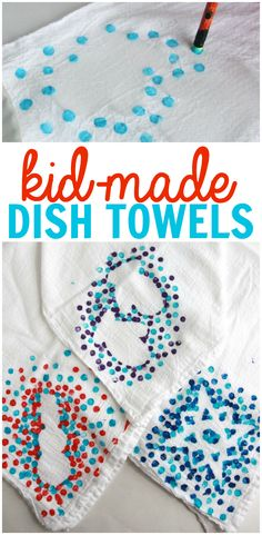 Towels Kid-Made Dish Towels: Such a precious homemade gift that kids can make for the special people in their lives!Kid-Made Dish Towels: Such a precious homemade gift that kids can make for the special people in their lives! Preschool Christmas, Preschool Crafts, Kids Christmas, Kid Made Christmas Gifts, Grandparents Christmas Gifts, Christmas Quotes, Preschool Learning, Teaching, Christmas Carol