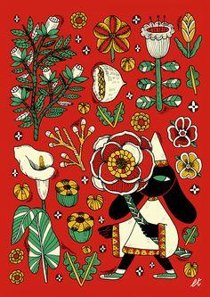 Botanic magic on Behance Plant Illustration, Botanical Illustration, You Draw, Psychedelic Art, Types Of Art, Art Inspo, New Art, Painting & Drawing, Art Reference